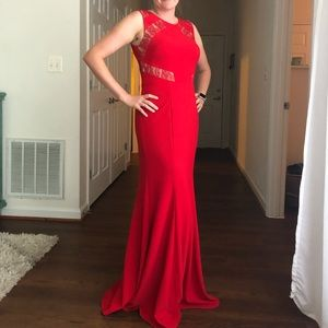 Red formal gown. Worn once!